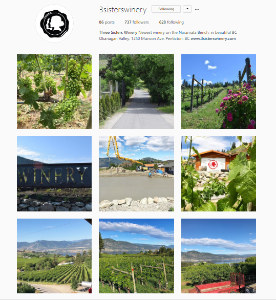 Social Media Of Three Sisters Winery